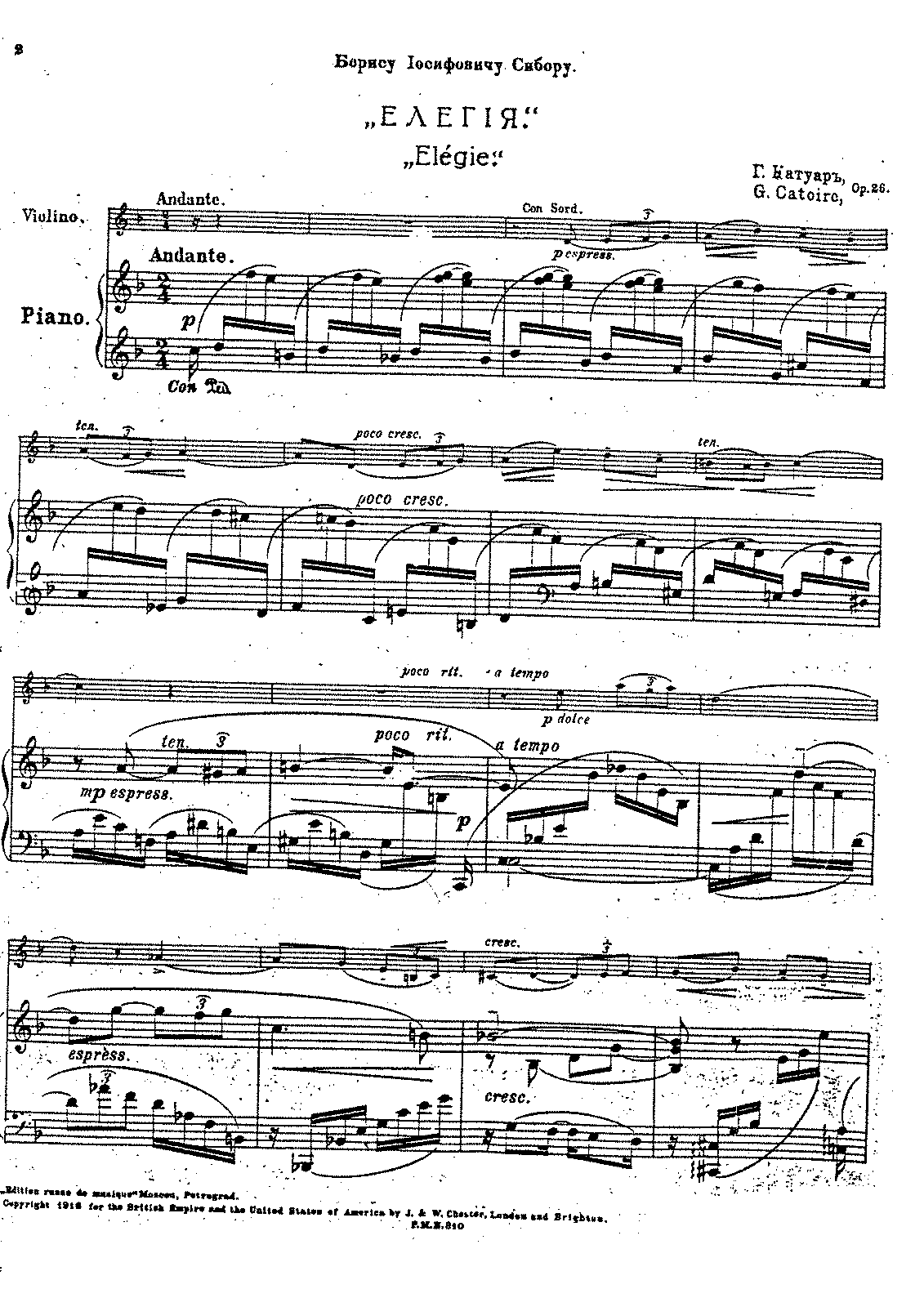 Catoire - Op.26 - Elegie for Piano & Violin.pdf