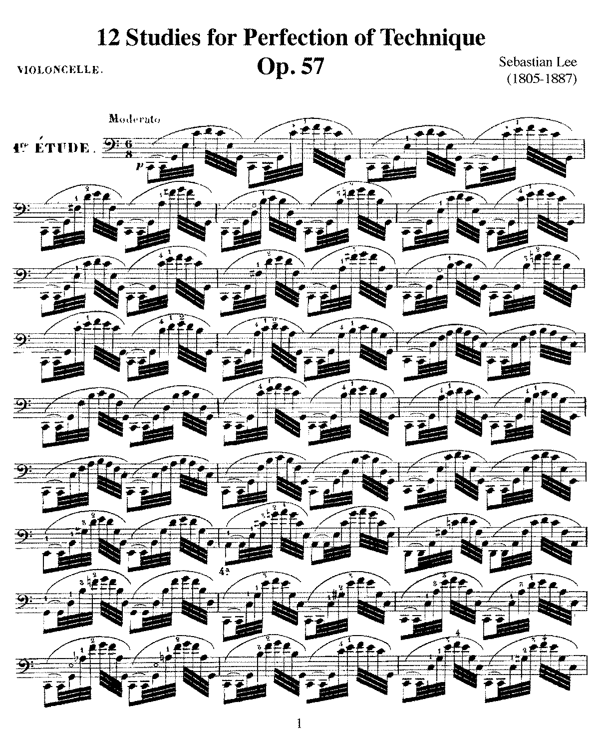PMLP57003-Lee - 12 Studies for Perfection of Technique Op57 for cello.pdf