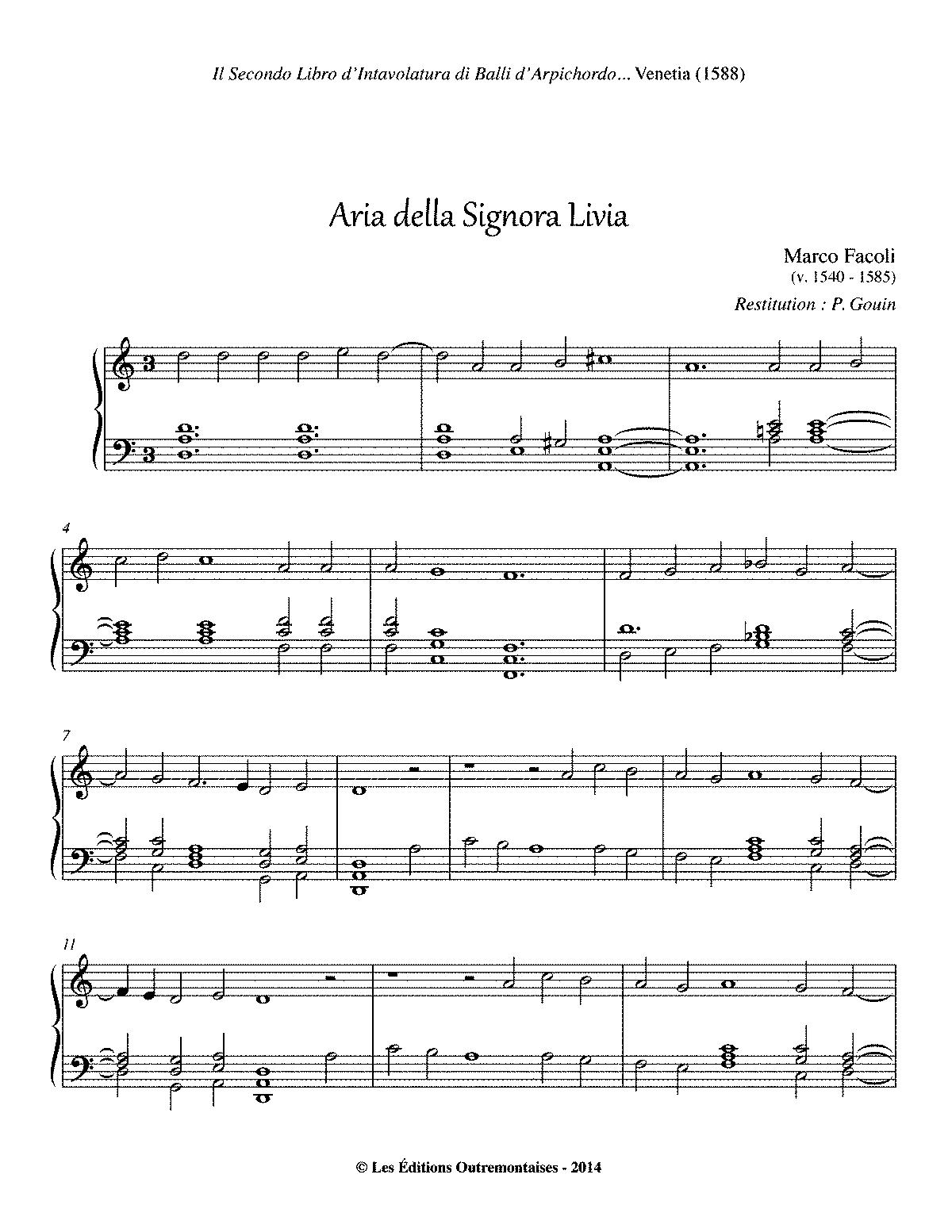 sull aria sheet music pdf