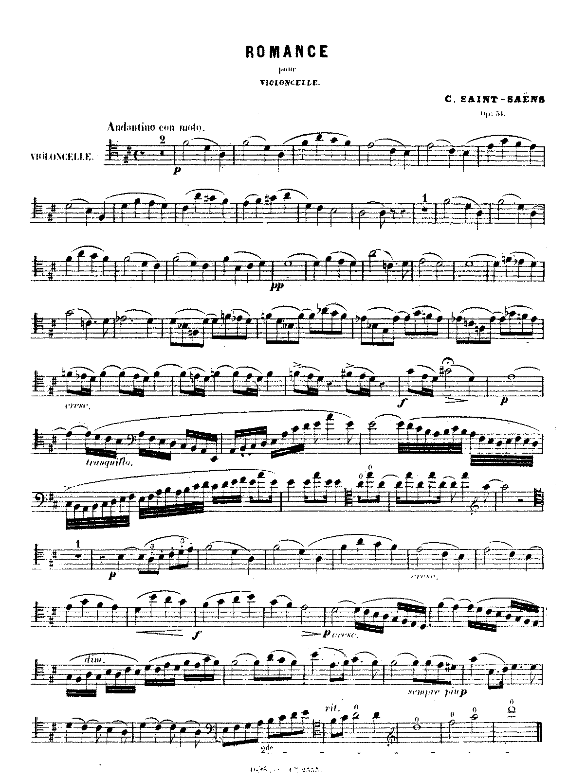 PMLP69036-Saint-Saëns - Romance, Op. 51 (cello and piano).pdf