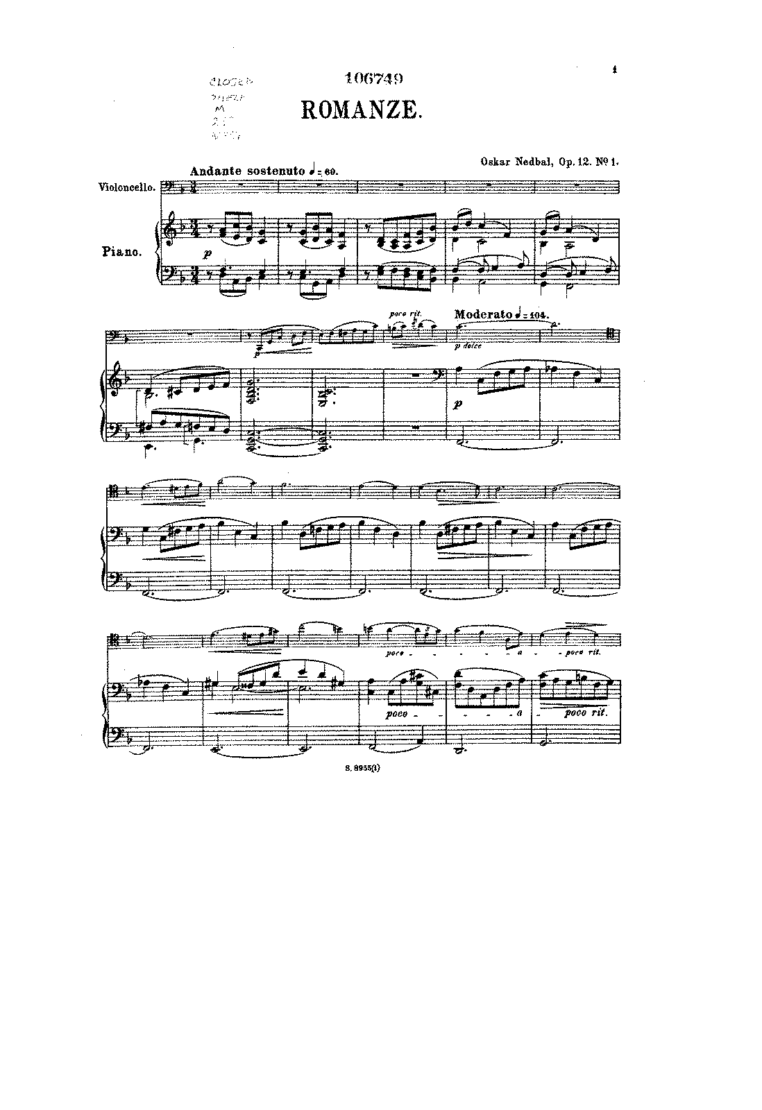 PMLP137811-Nedbal - Romanze for Cello and Piano Op12 (2 Stucke No1) score score.pdf