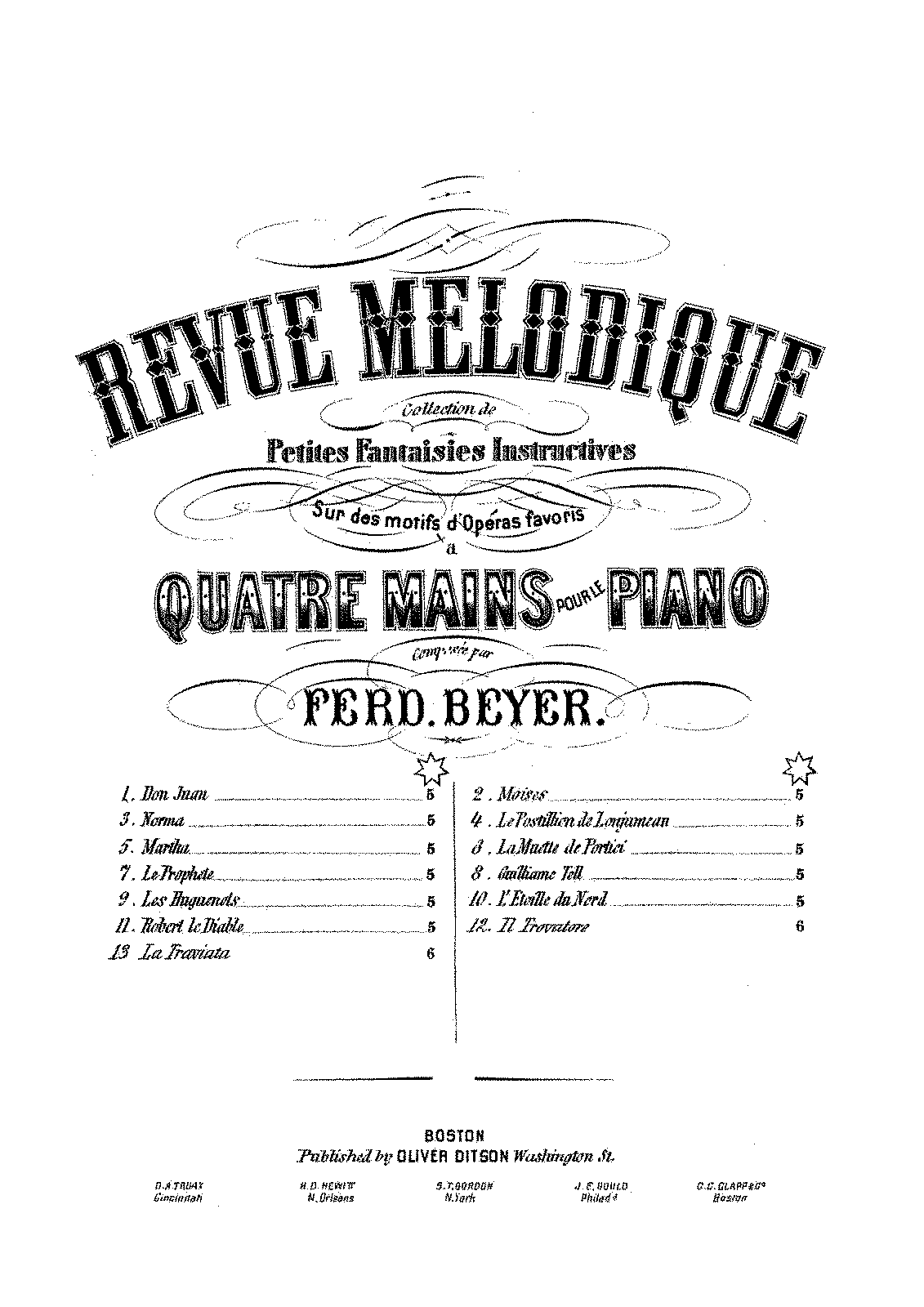 PMLP341606-Beyer - 112-3 Revue Melodique, Collection de Petites Fantaisies Instructives op 112 no 13 La Traviata - 4H - Ditson Edition.pdf