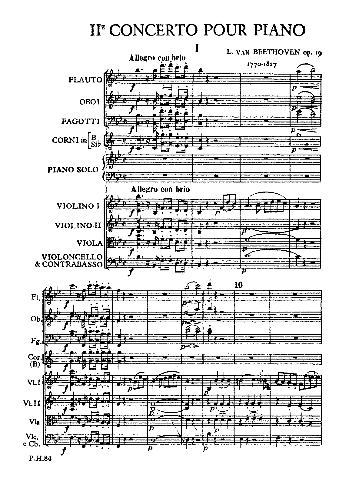 Piano Concerto No.2, Op.19 (Beethoven, Ludwig van) - IMSLP ...