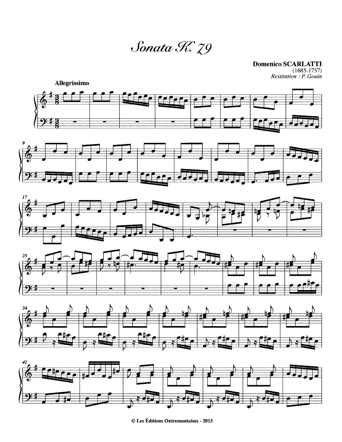 Keyboard sonata in g major k79 scarlatti domenico imslp arrangements and transcriptions hexwebz Gallery