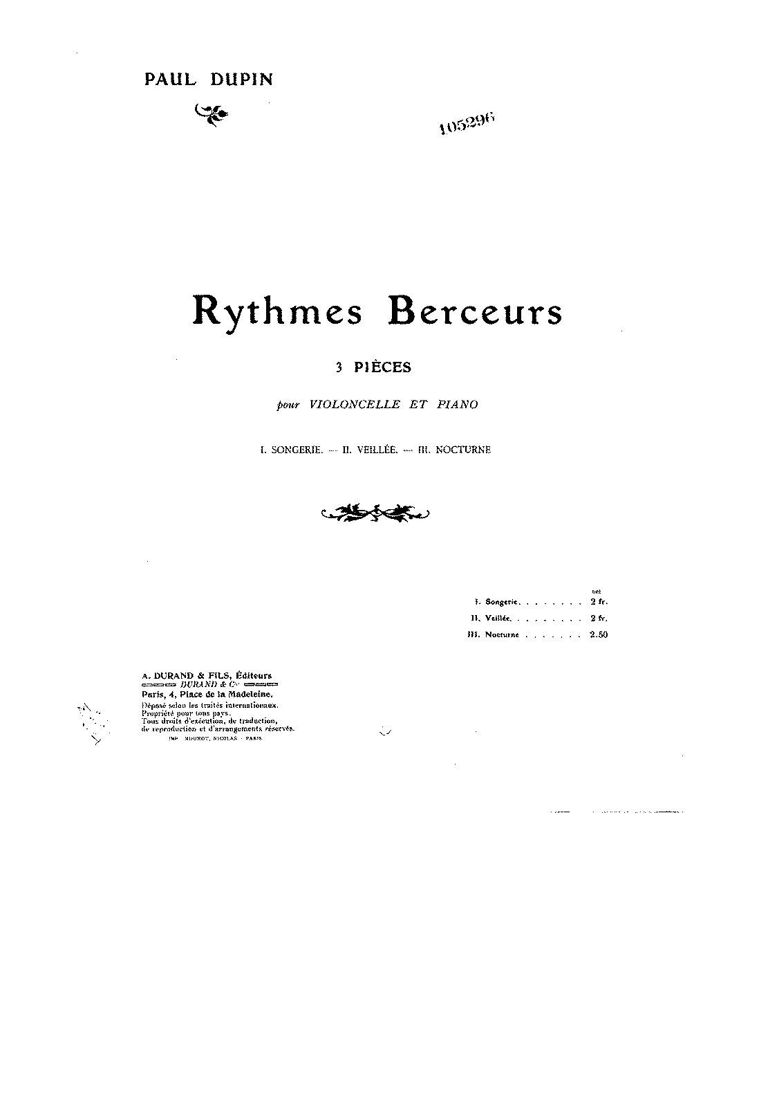 PMLP136130-Dupin - Rythmes Berceurs 3 Pieces for Cello and Piano score.pdf