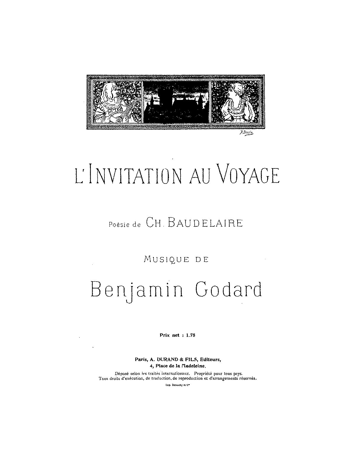 Linvitation au voyage op114 godard benjamin imslppetrucci general information stopboris Gallery