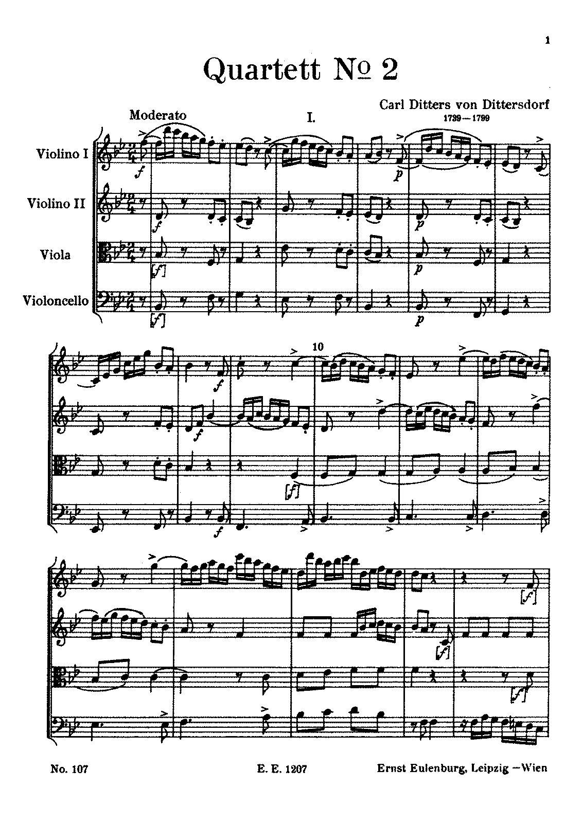 Dittersdorf String Quartet No.2 in B Flat.pdf