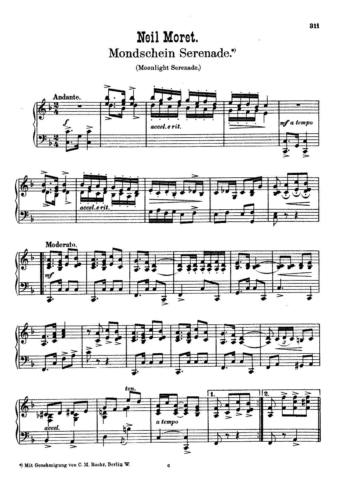 moonlight serenade  daniels  charles n    petrucci music library  free public domain