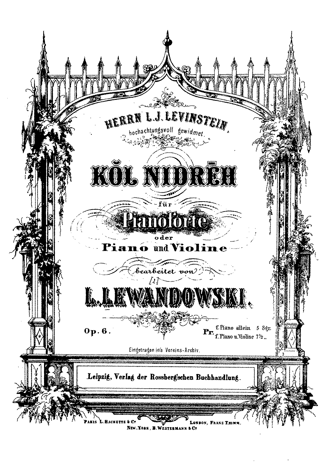 PMLP240928-Lewandowsky, Louis, Kŏl nidrēh, Op.6, Violin and Piano.pdf