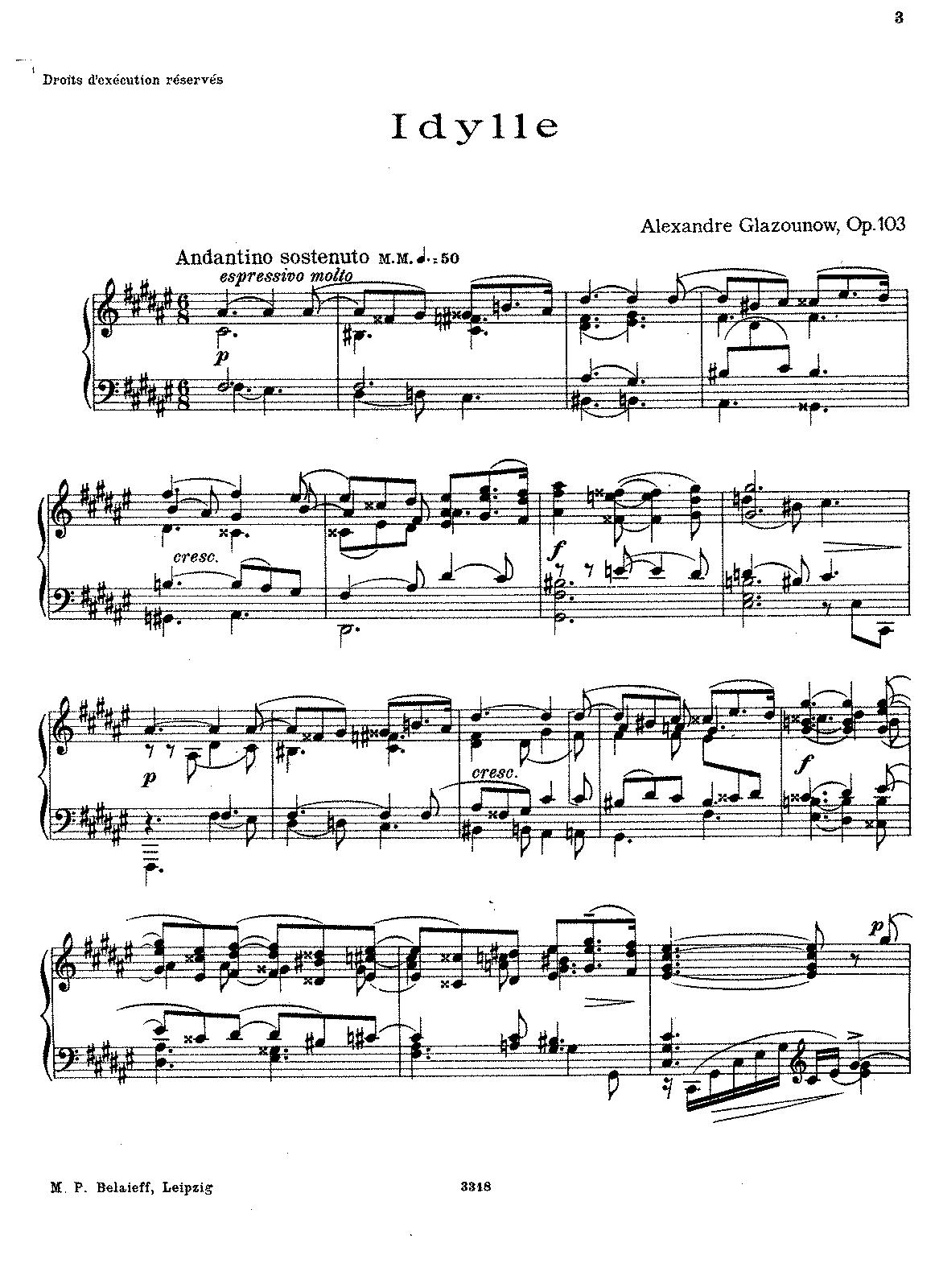 Idylle op103 glazunov aleksandr imslppetrucci music complete score hexwebz Gallery