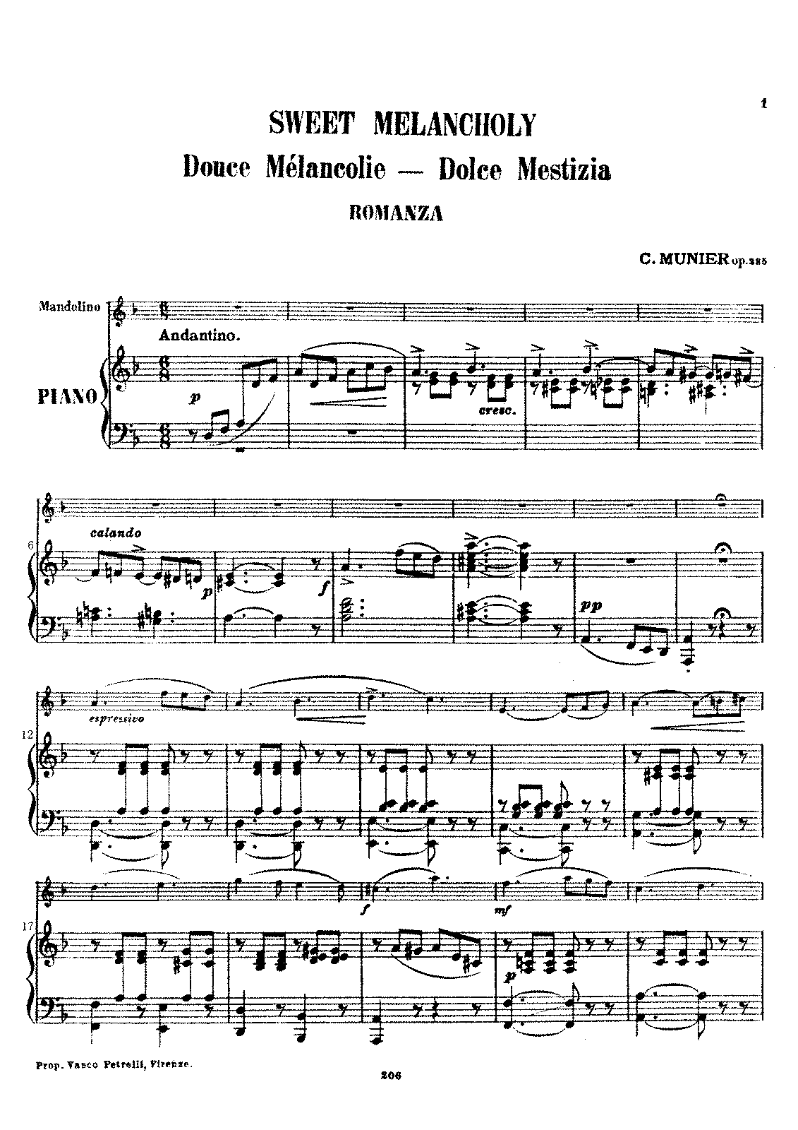 PMLP640467-Sweet Melancholy, Romanza Op.235 C.Munier piano part.pdf
