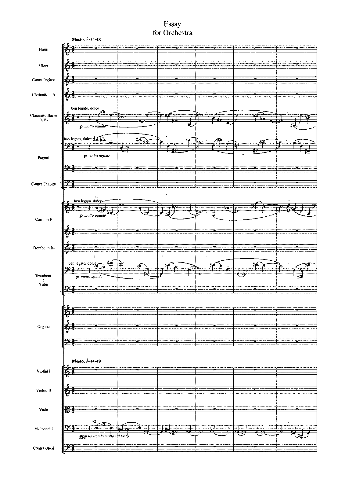 essay for orchestra costa fabio petrucci music library  general information