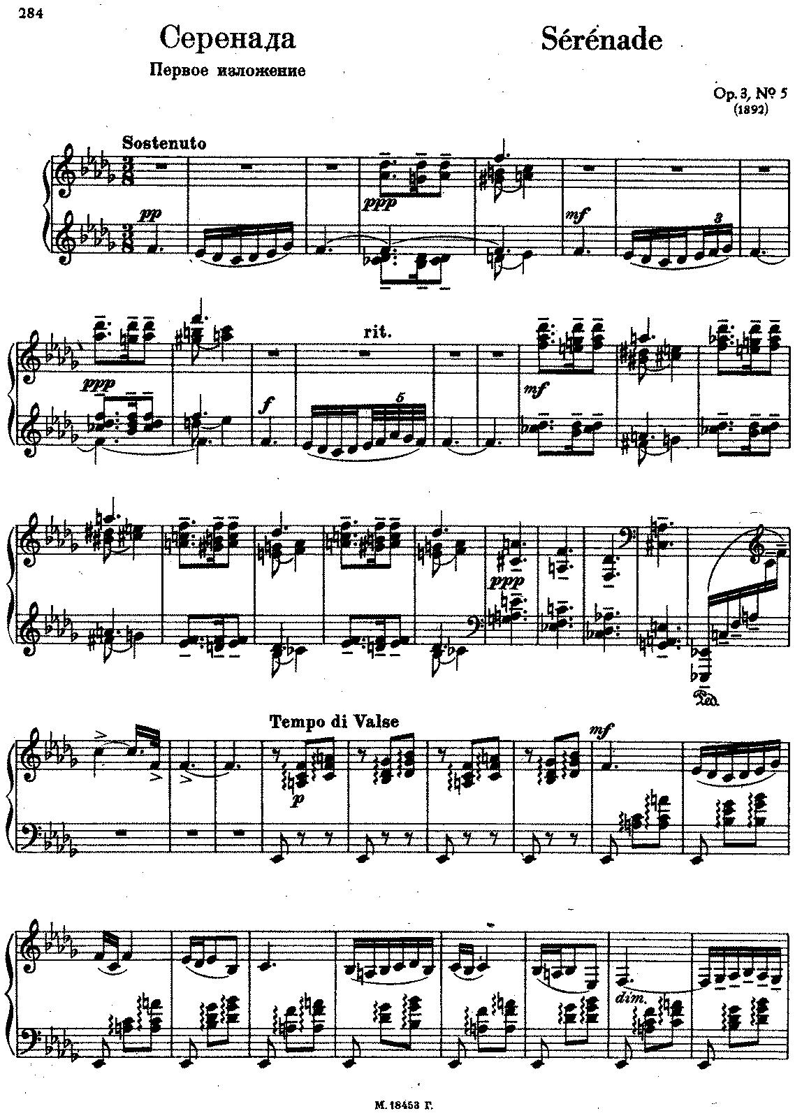 Exceptionnel Morceaux de fantaisie, Op.3 (Rachmaninoff, Sergei) - IMSLP  ZD73