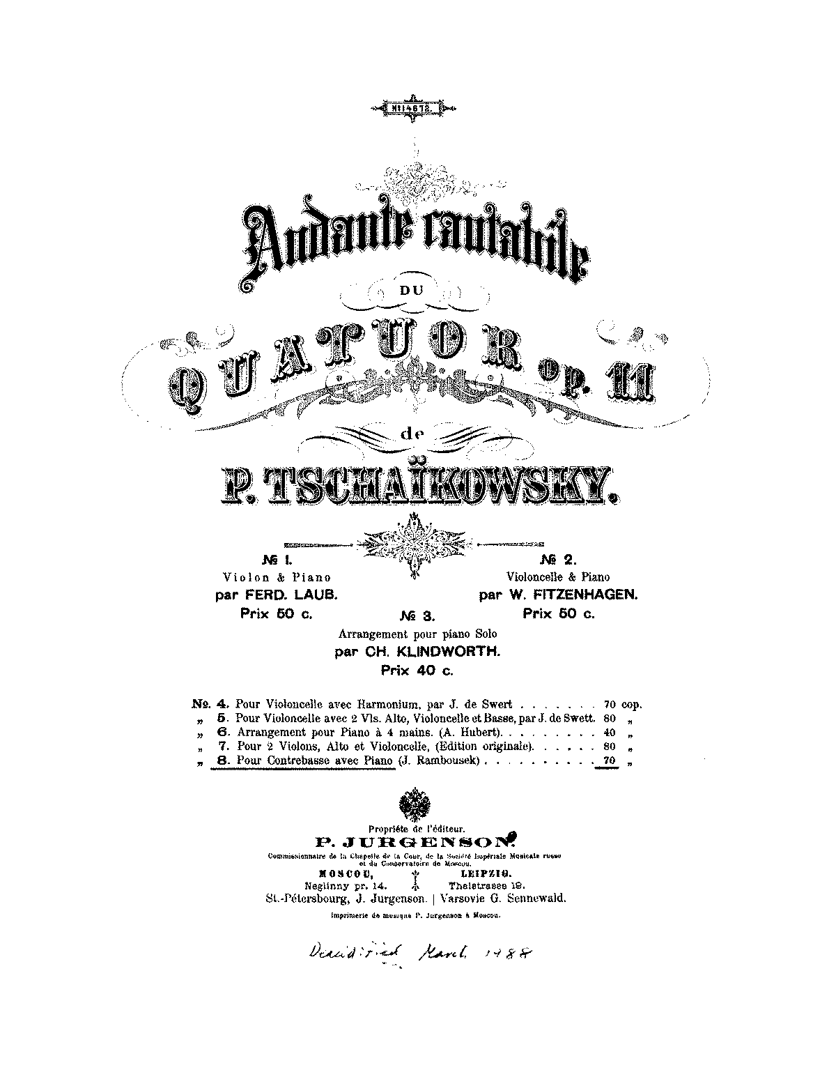 PMLP14654-Tschaikovsky - Andante cantabile from Str 4tet Op11 for Bass and Piano (Rambousek) score.pdf