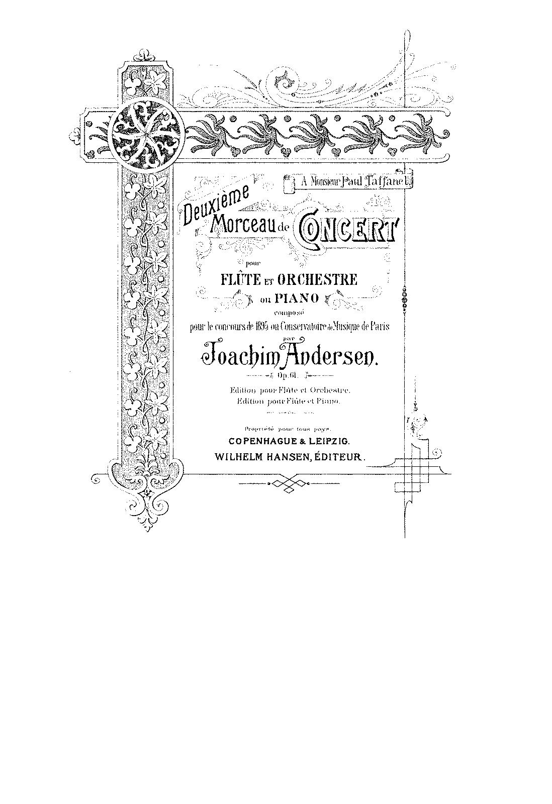 Hervorragend Morceau de Concert No.2, Op.61 (Andersen, Joachim) - IMSLP  EA19