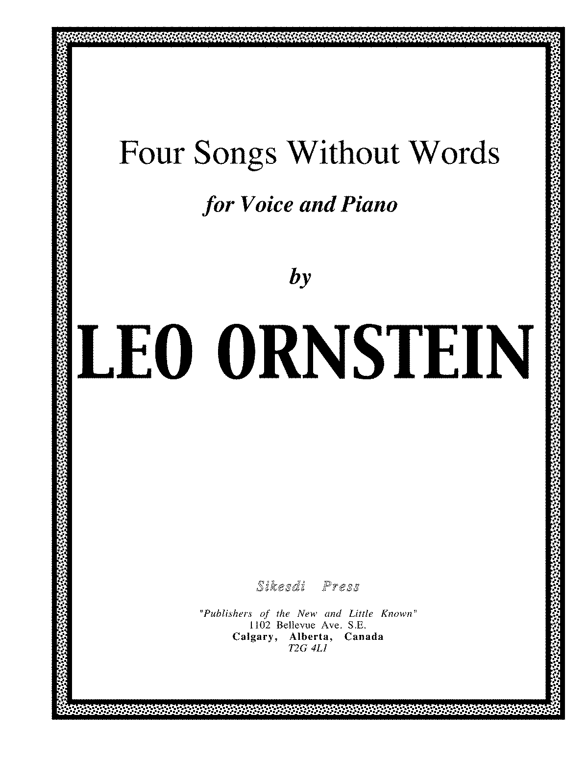 S701 - Four Songs w.o. wrds.pdf