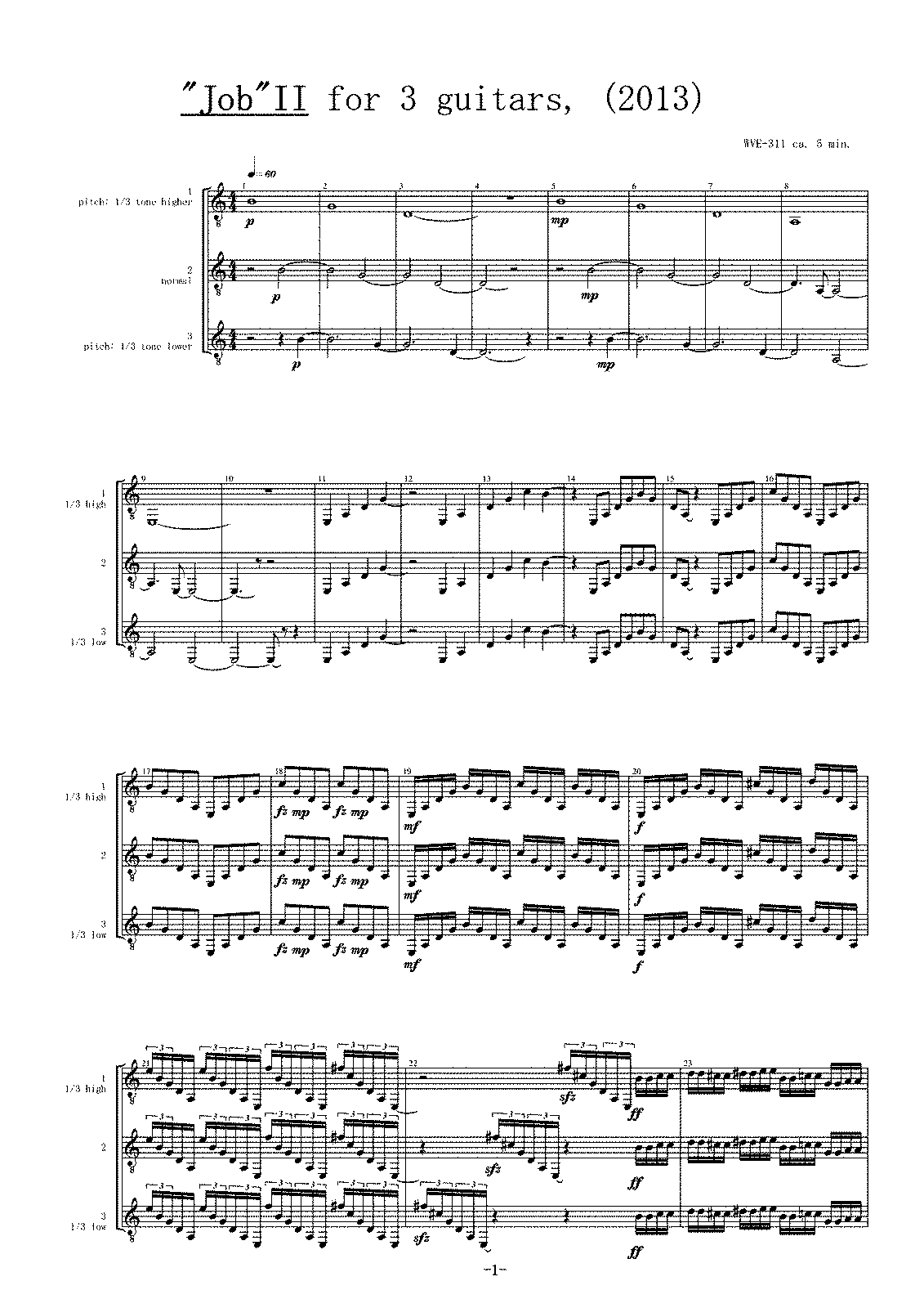 PMLP576537-WVE-311, Job II for 3 guitars, Score.pdf