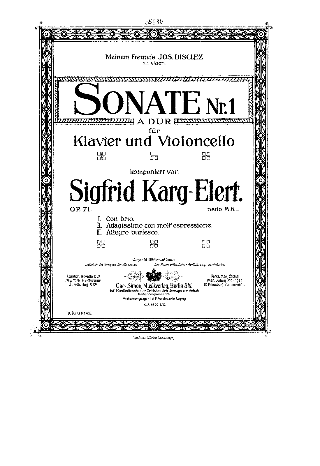 PMLP137278-Karg-Elert - Sonata No1 in A Major for Cello and Piano Op71 score.pdf