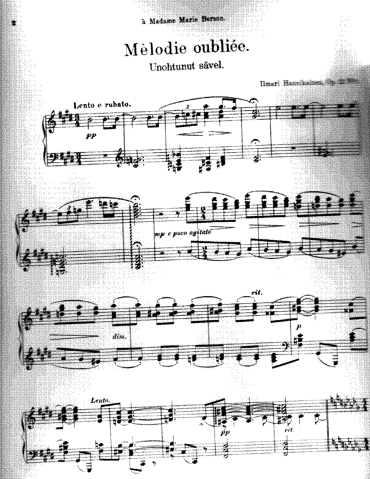 Hannikainen - Melodie oubliee, Op.12 No.1.pdf