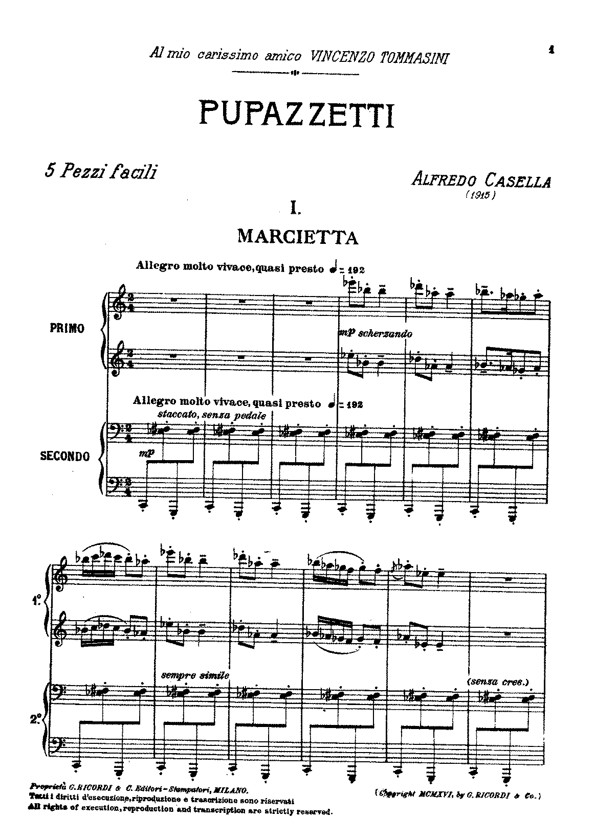 Casella (1915) op27 Five easy pieces — 'Pupazzetti' (duet).pdf