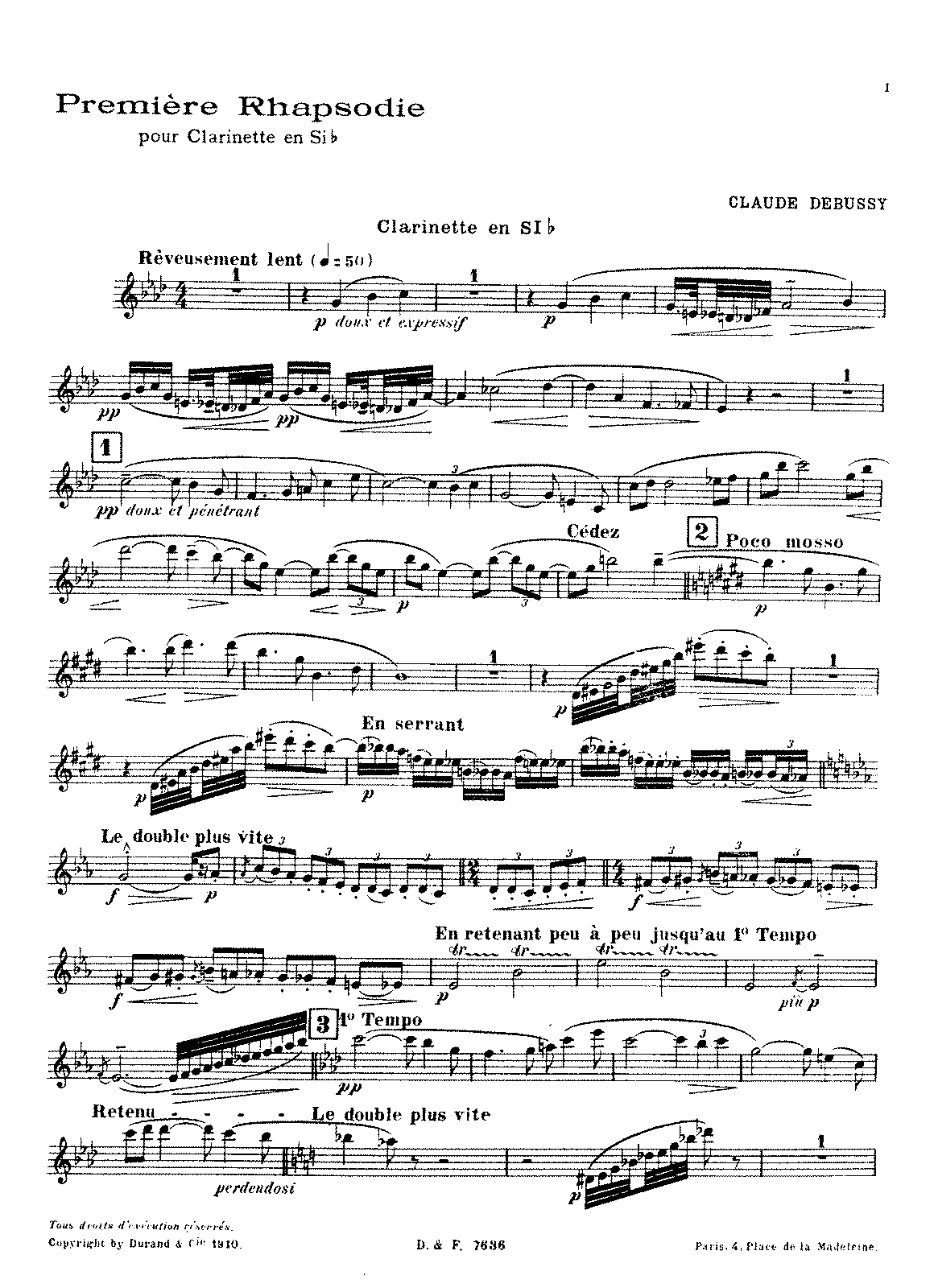 Debussy - Première Rhapsodie (clarinet and piano).pdf