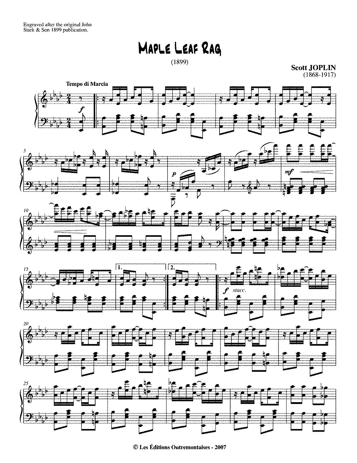 Maple Leaf Rag Sheet Music Nurufunicaasl