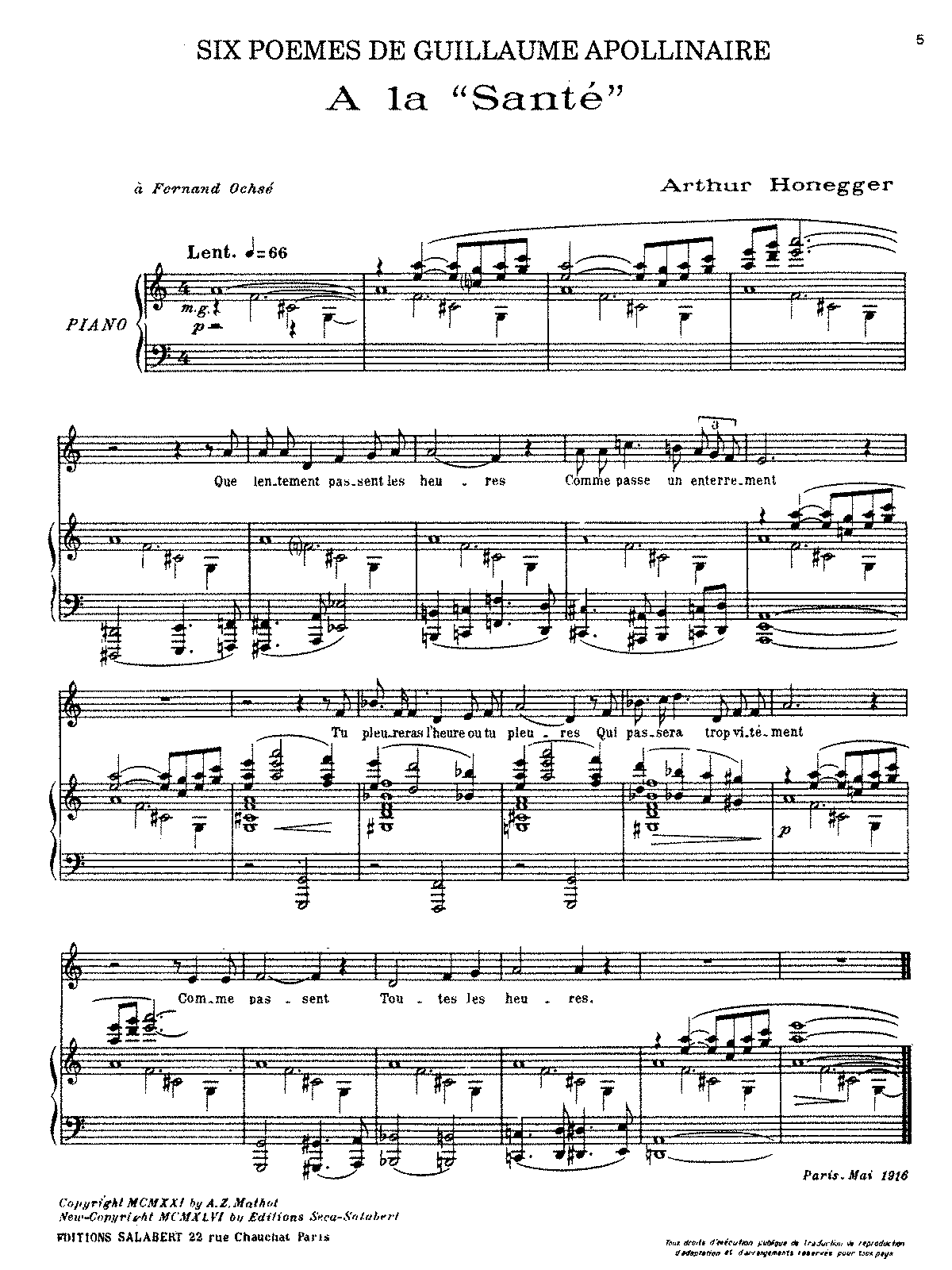 Honegger - 6 Poemes d'Apollinaire (voice and piano).pdf