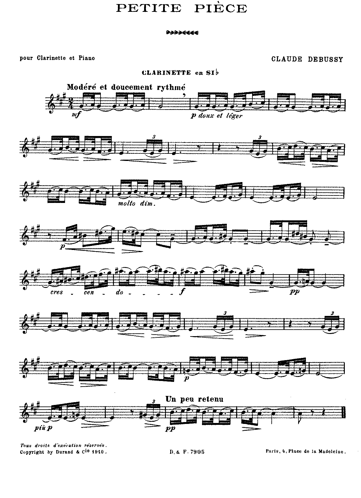 Debussy - Petite Pièce (clarinet and piano).pdf