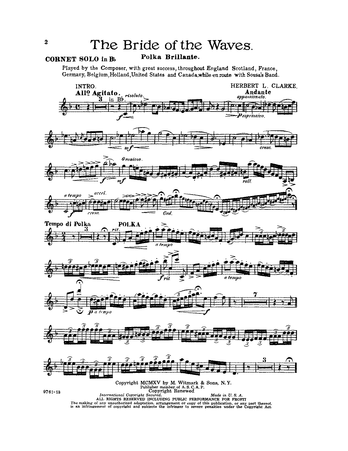 PMLP92692-Clarke-The Bride of the Waves(Solo Bb Cornet).PDF