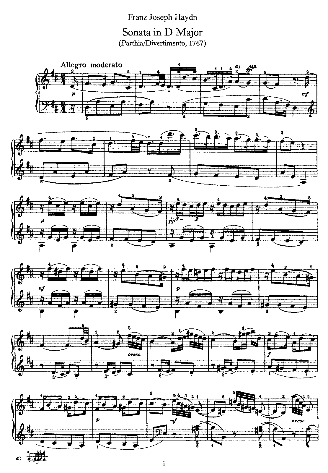 Haydn - Piano Sonata No 14 in D.pdf
