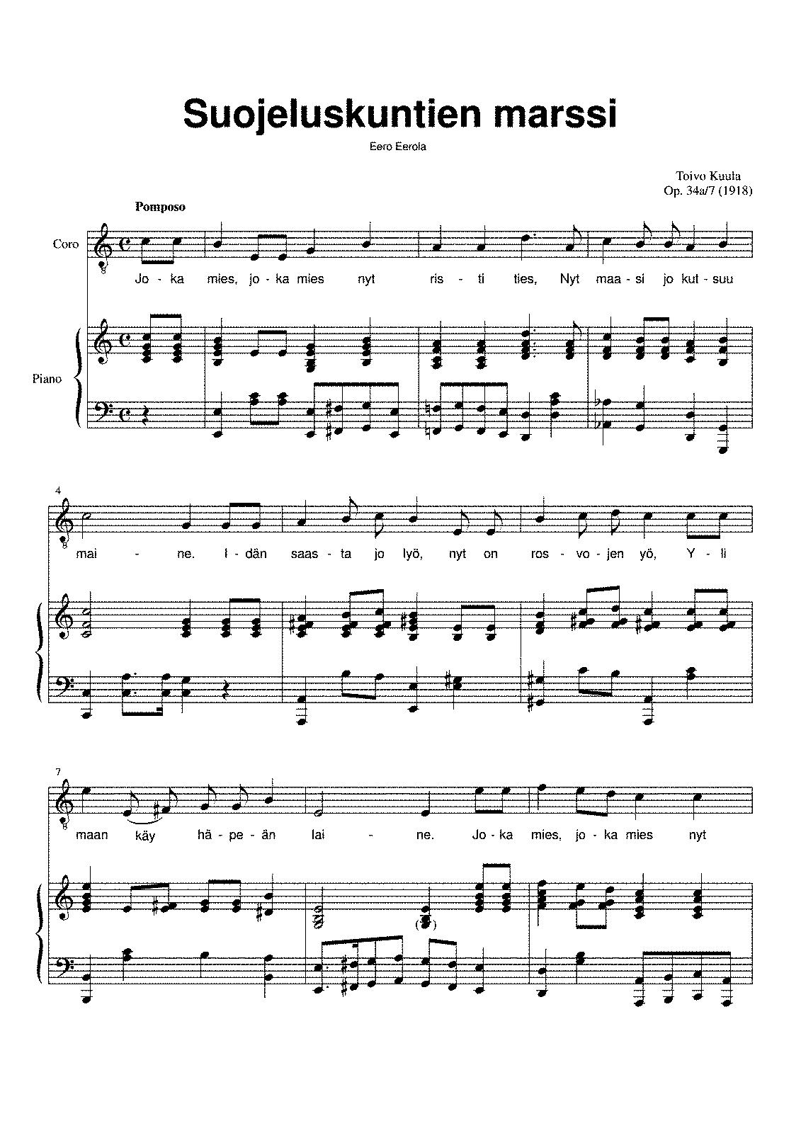 Suojeluskuntien marssi op34a no7b kuula toivo imslp arrangements and transcriptions hexwebz Choice Image