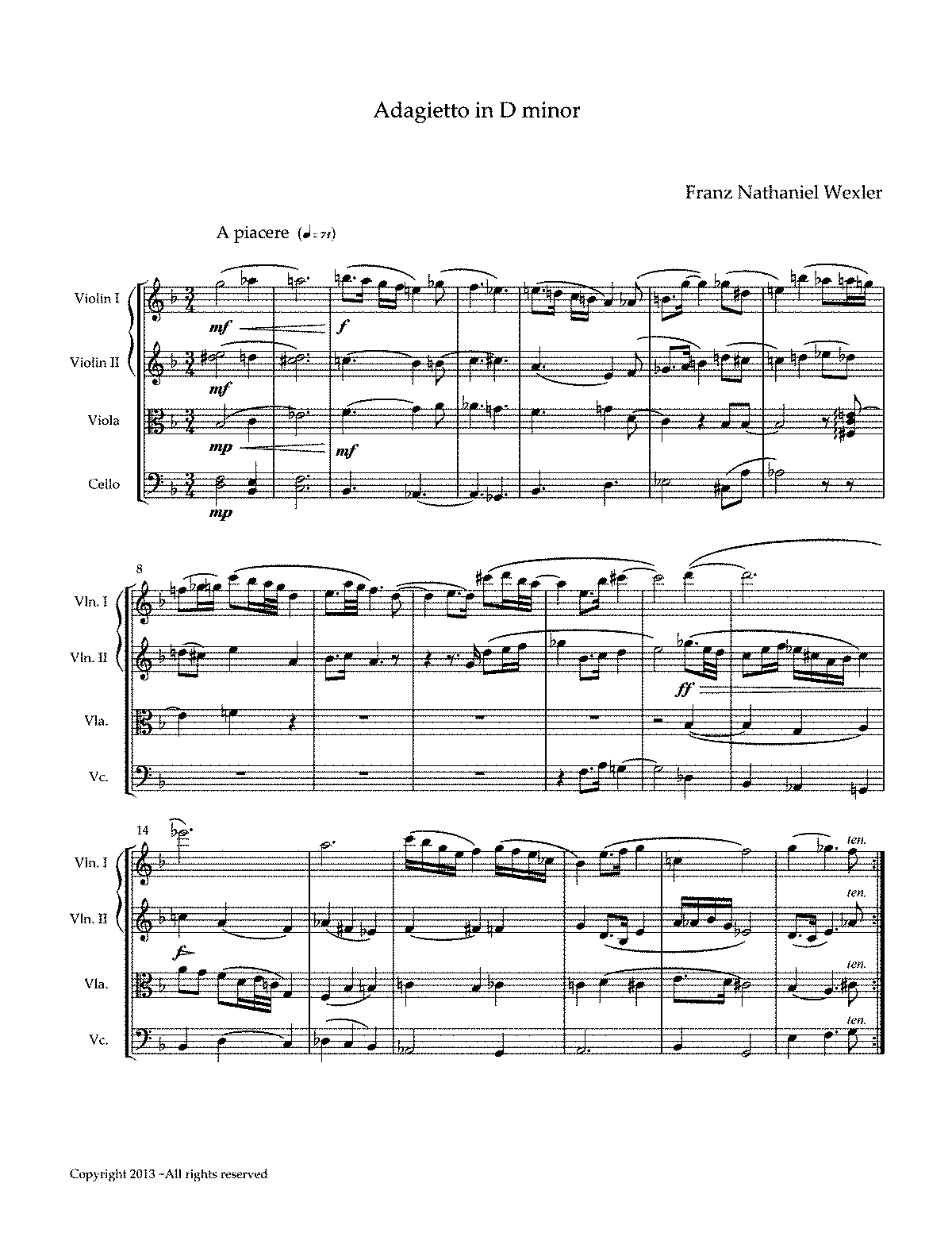PMLP429518-Adagietto in D minor by Franz Nathaniel Wexler.pdf