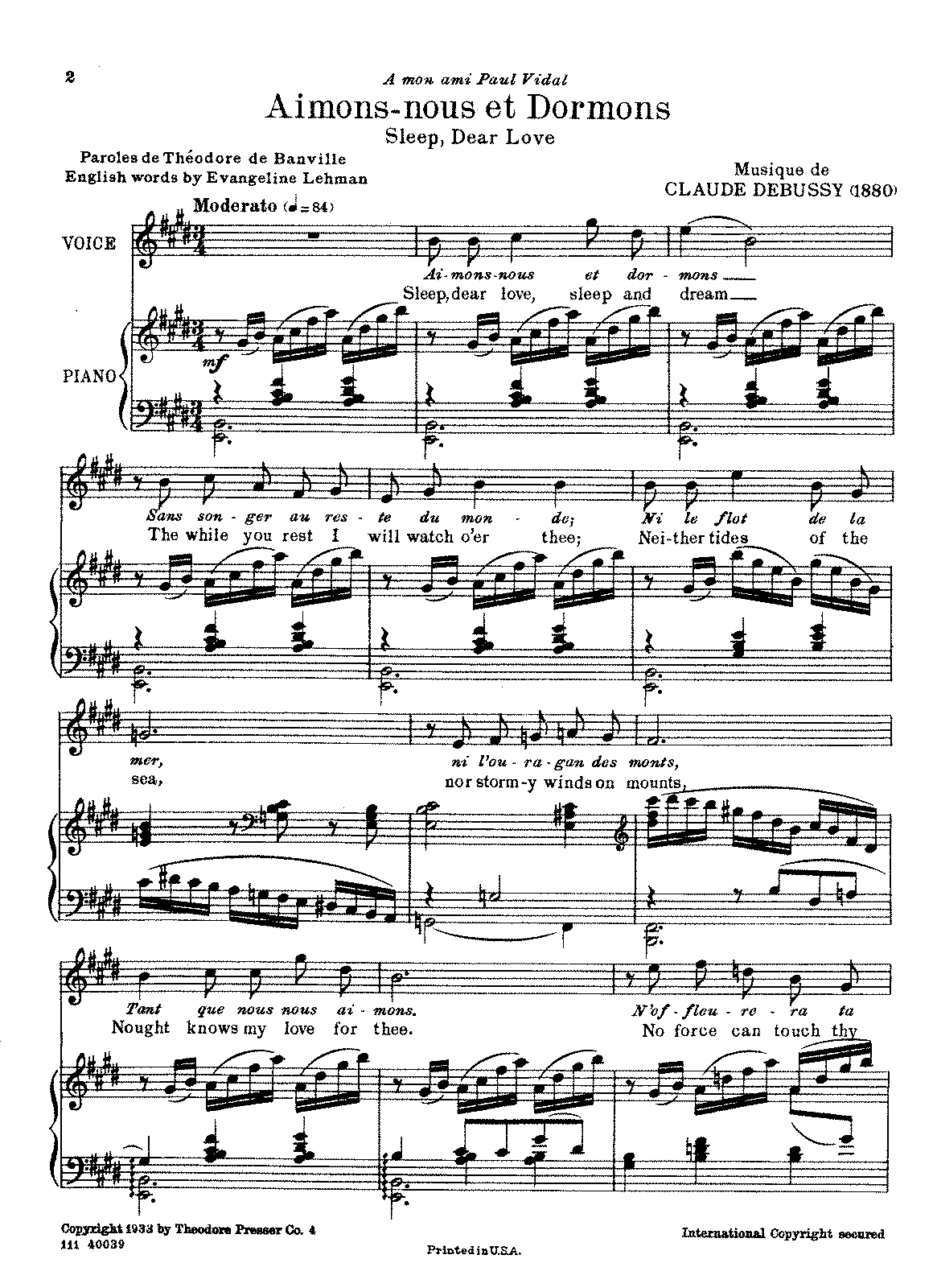 Debussy - Aimons-nous et Dormons (voice and piano).pdf