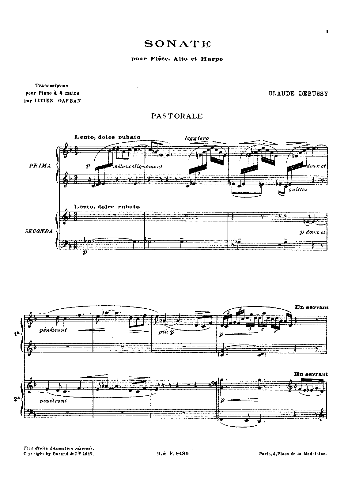 PMLP34399-Debussy - Sonata for Flute, Viola and Harp (trans. Garban - piano 4 hands).pdf