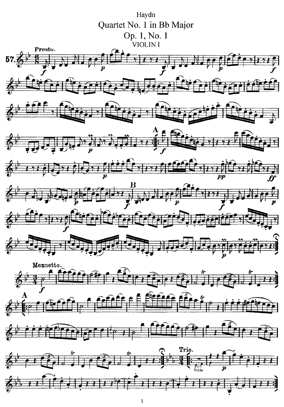PMLP143602-Haydn - String Quartet No1 in BbM Op1 No1 violin1.pdf