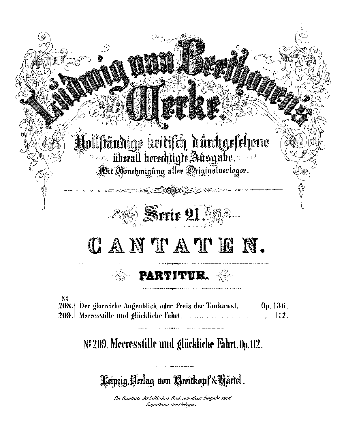 Meeresstille und gl ckliche Fahrt Op112 Beethoven Ludwig van – Beethoven Worksheet