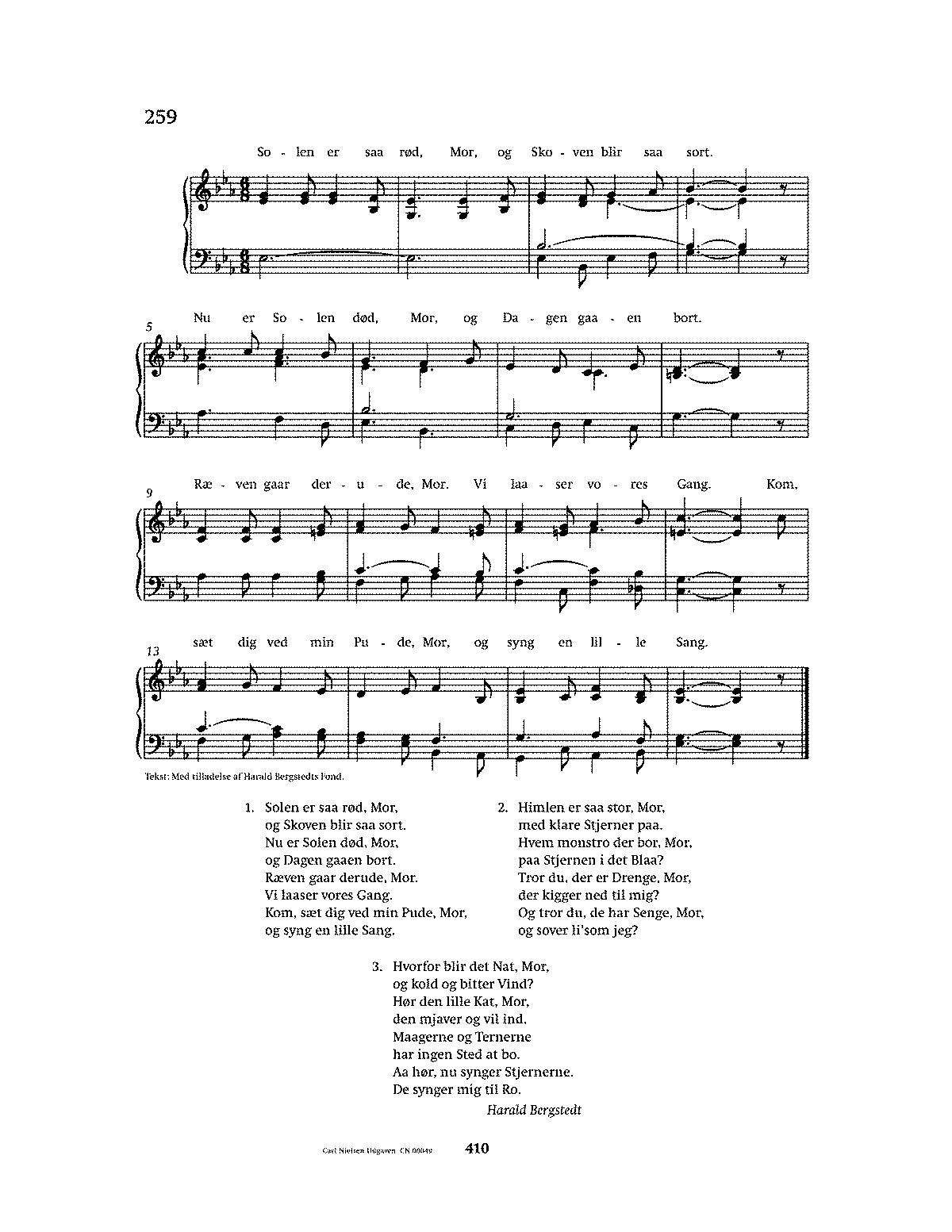 under stjernerne på himlen chords piano