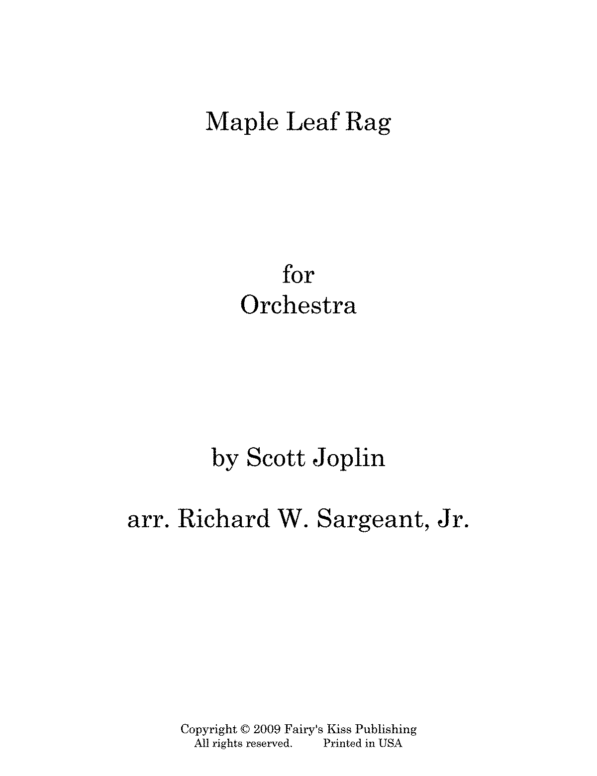 maple leaf rag saxaphone sheet music pdf