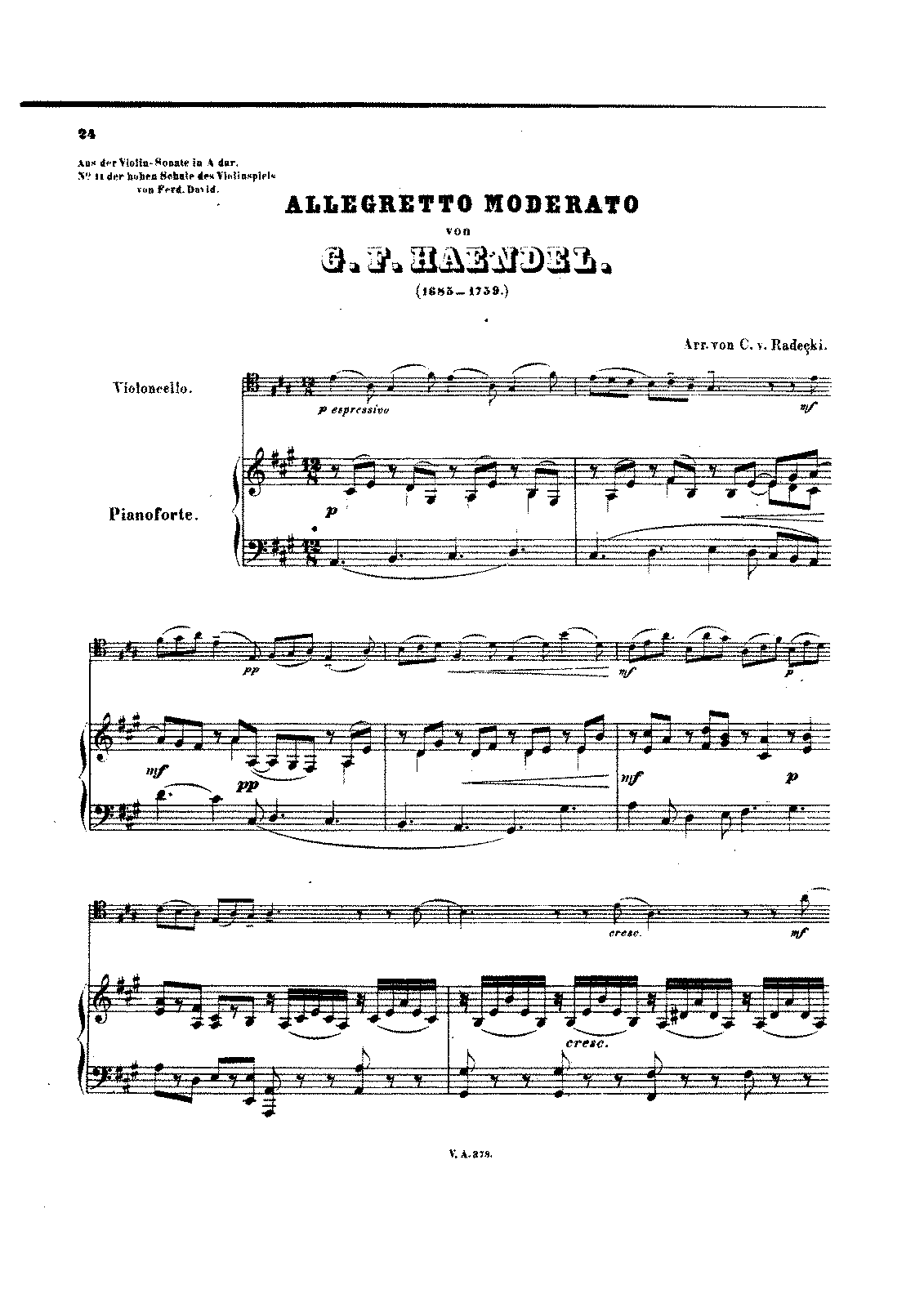 PMLP13605-Handel - Allegretto Moderato from Violin Sonata in A (Radecki) for Cello and Piano score.pdf