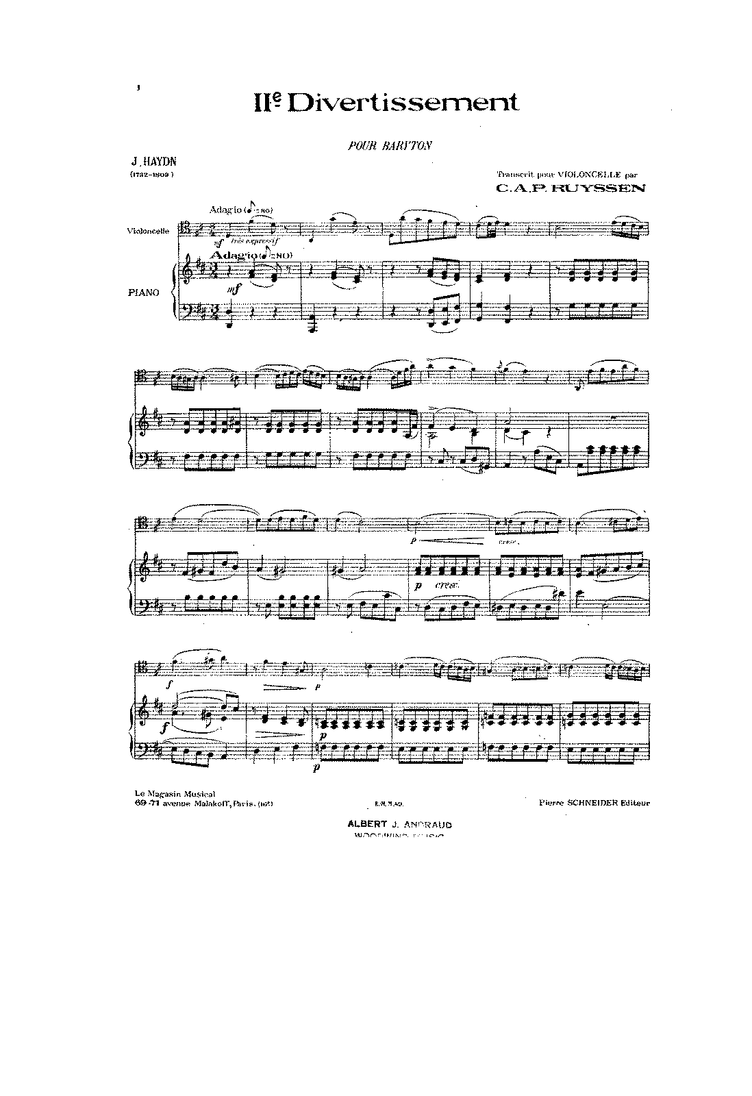 PMLP131915-Haydn - Baryton Trio HobXI 113 D Major arr for Cello and Piano (Ruyssen) score.pdf