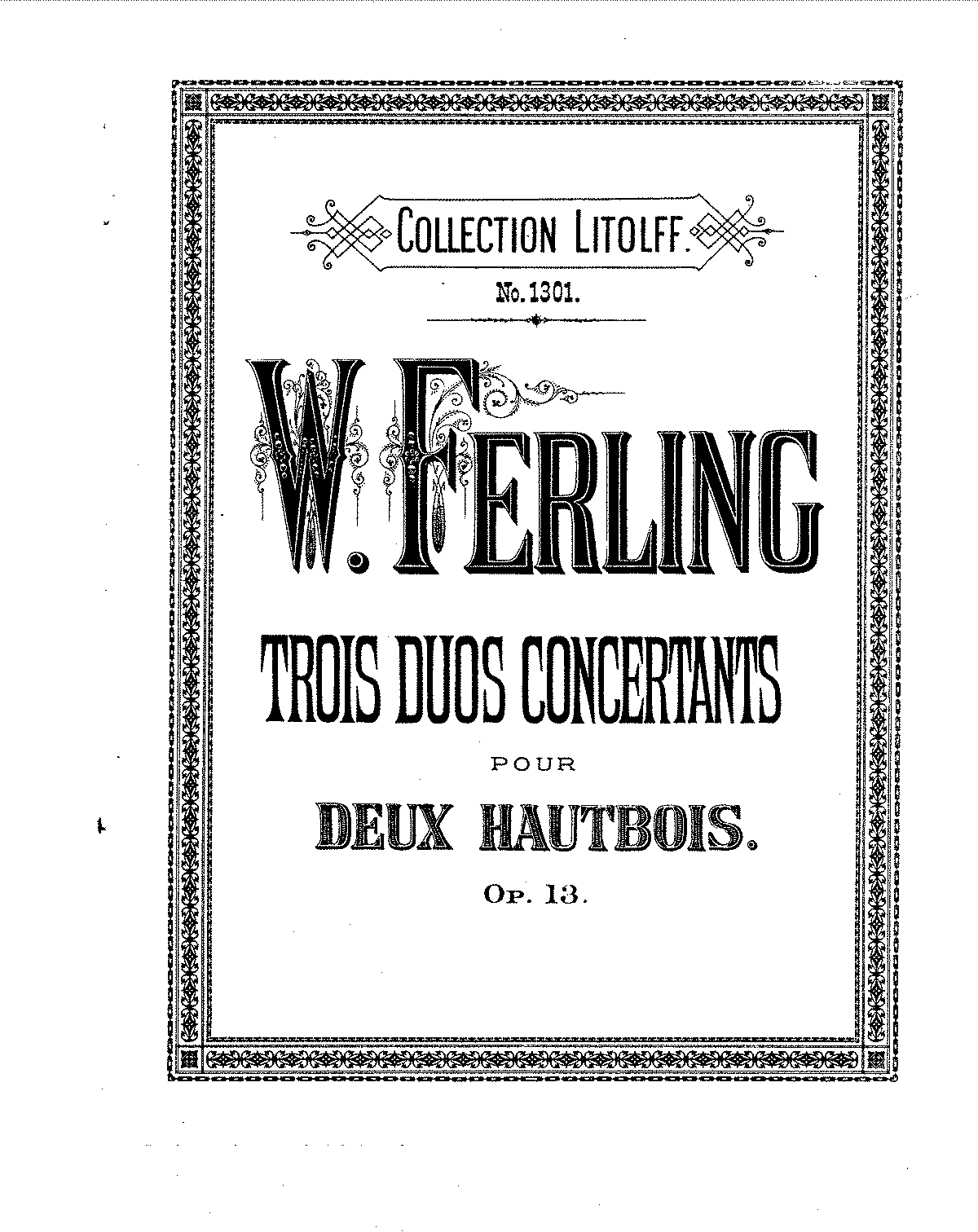 Ferling - 3 Duo Concertants for 2 oboes, Op. 13.pdf