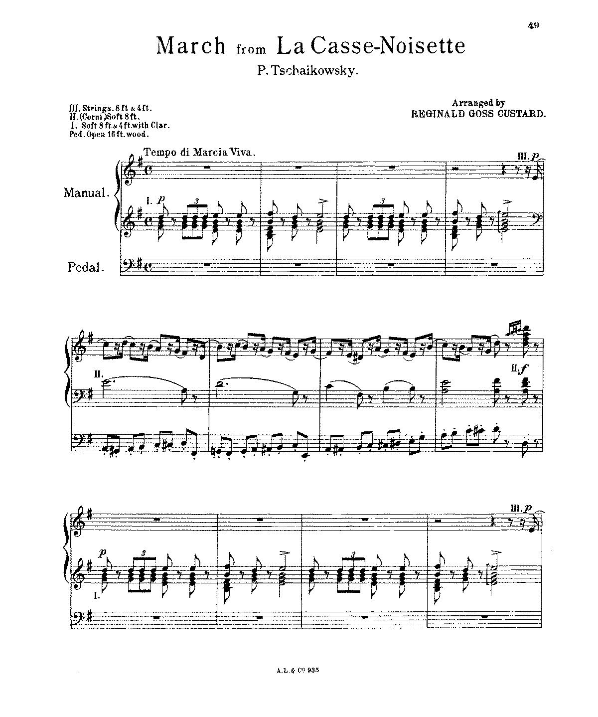 Free Sheet Music Public Domain: The Nutcracker (ballet), Op.71 (Tchaikovsky, Pyotr