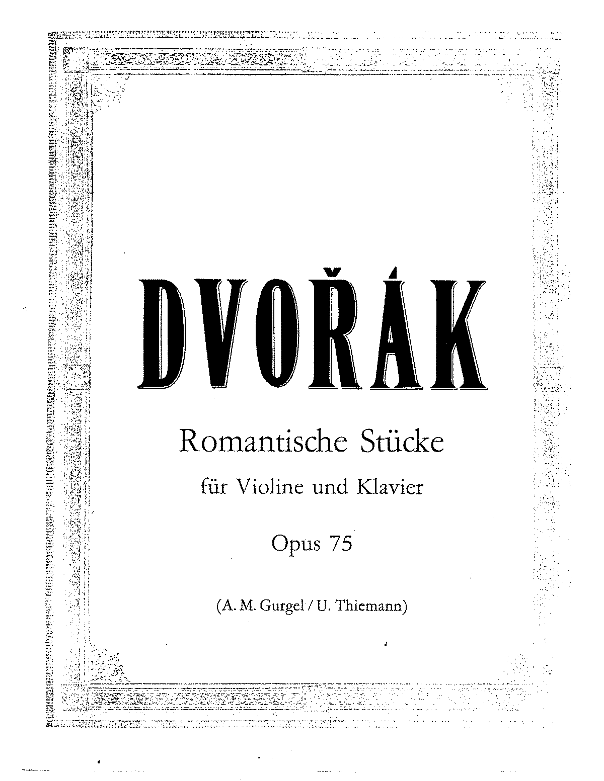 Dvorak - Op.75 - 4 Romantic Pieces for Violin and Piano.pdf