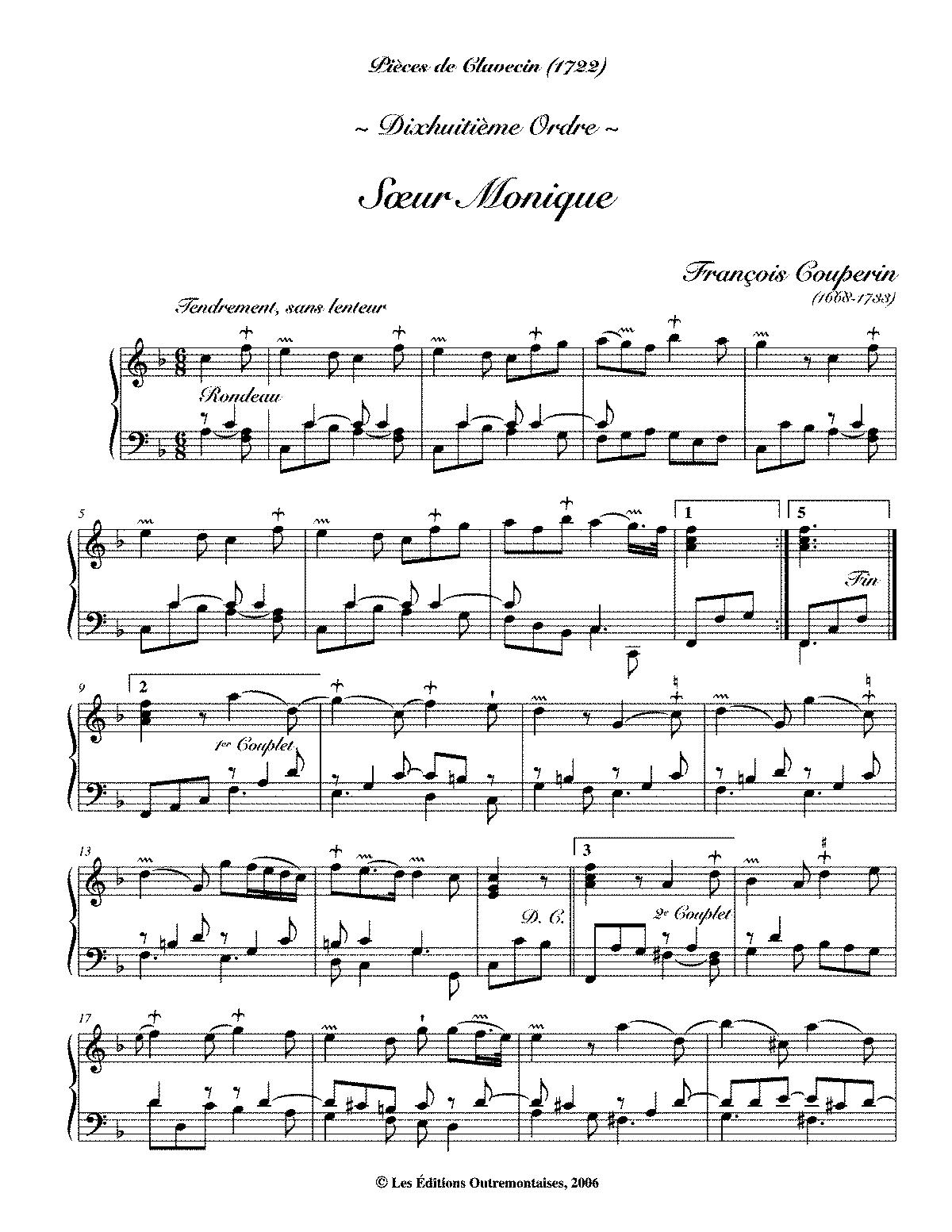 Troisième livre de pièces de clavecin (Couperin, François) - IMSLP ...