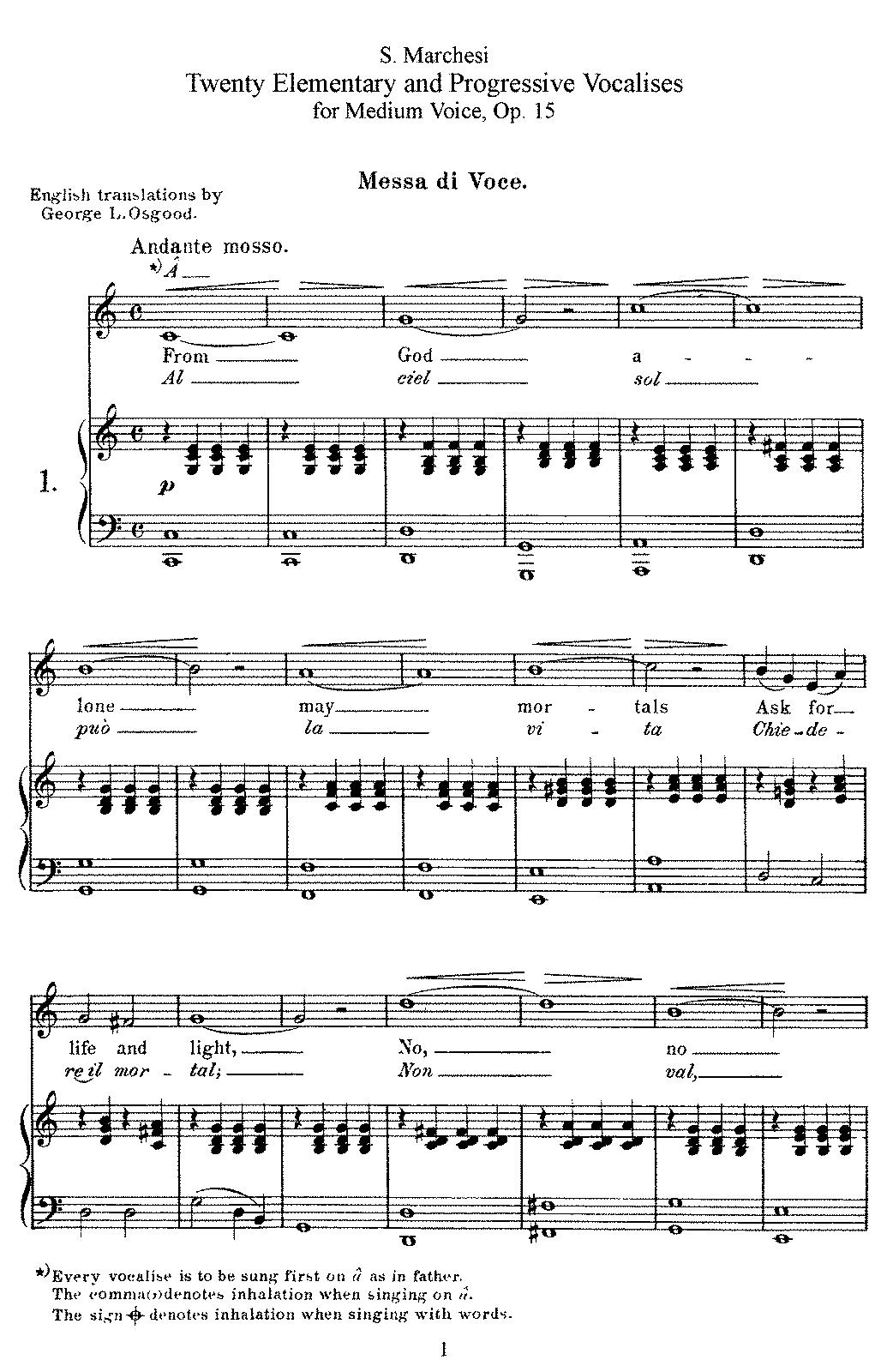 20 vocalises lmentaires op15 marchesi salvatore imslp complete score hexwebz Image collections