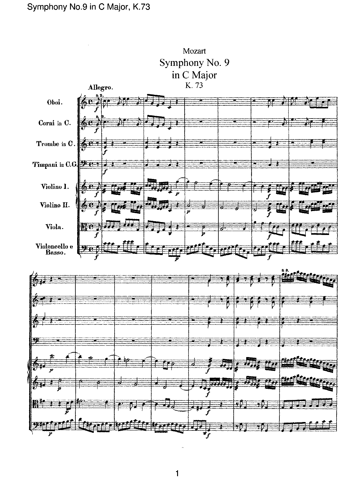 Mozart - Symphony No 09 in C Major, K73.pdf