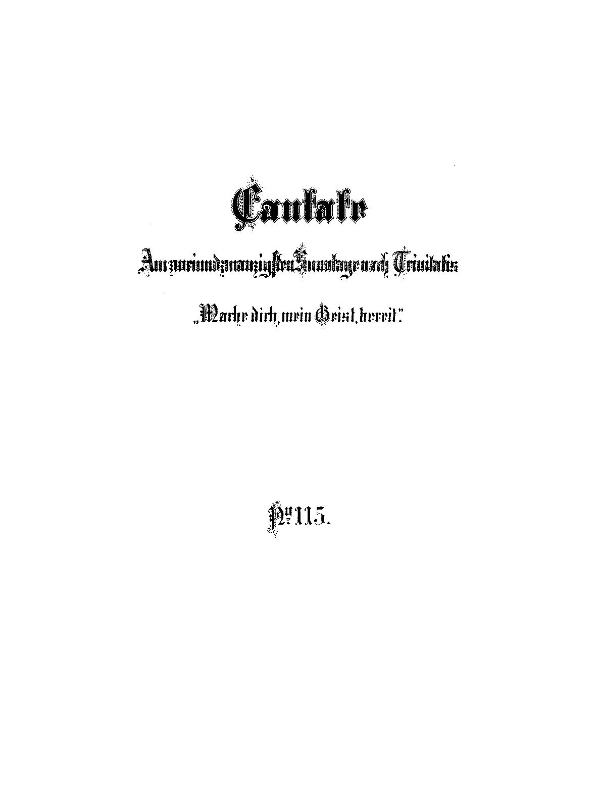 Mache dich, mein Geist, bereit, BWV 115 (Bach, Johann Sebastian ...