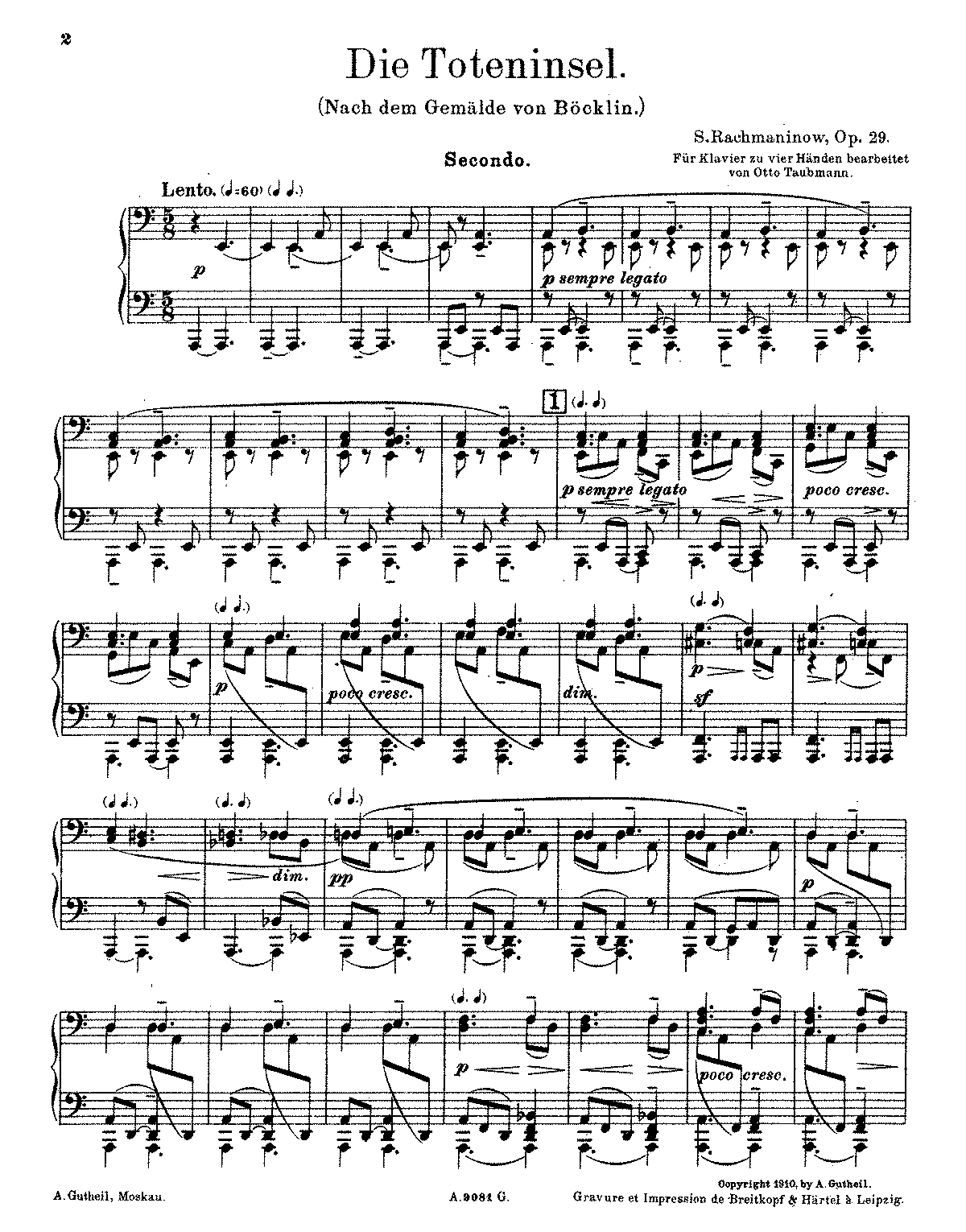 PMLP45655-Rachmaninoff - Isle of the Dead, Op. 29 (trans. Taubmann - piano 4 hands).pdf