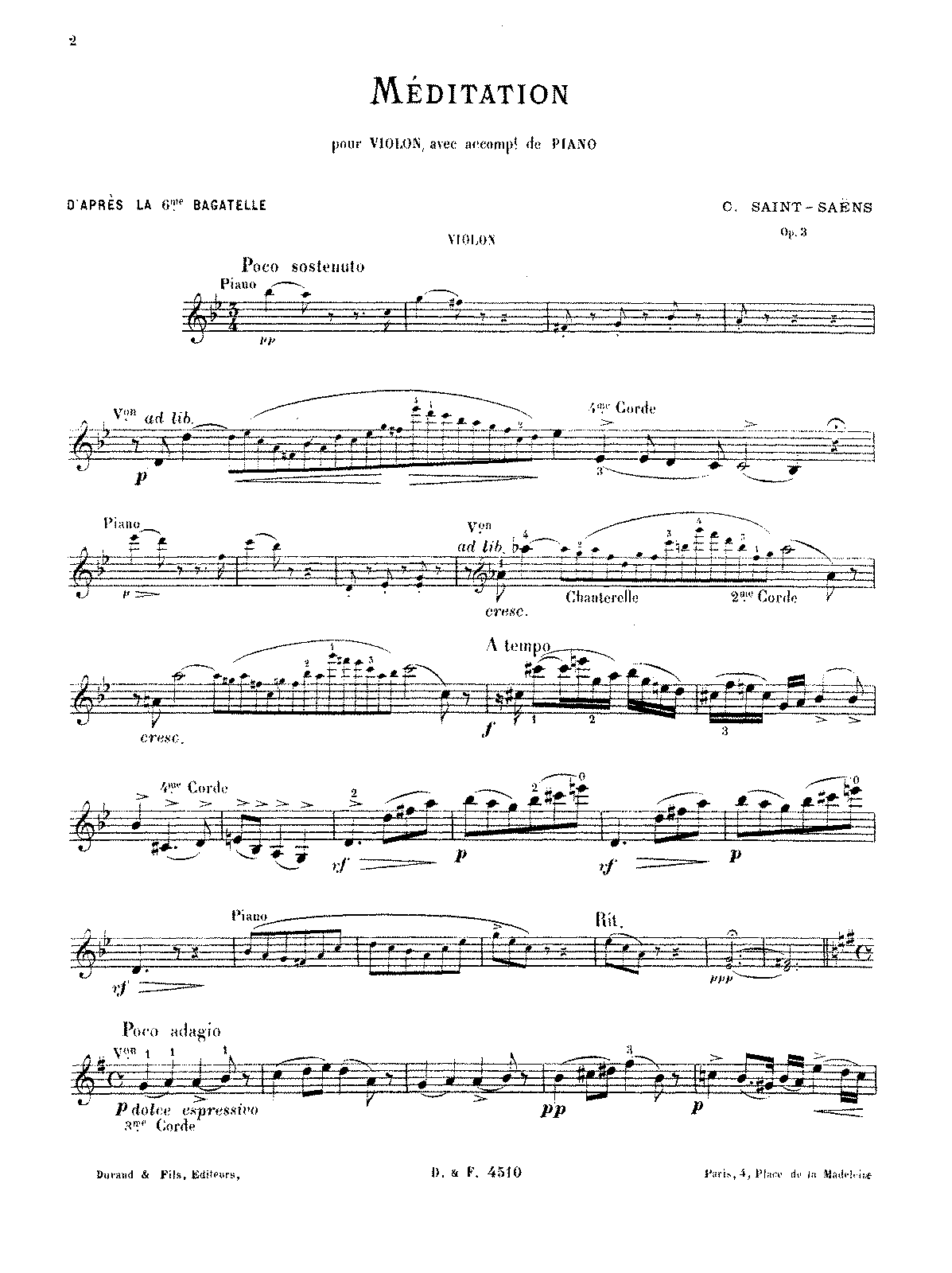 PMLP67515-Saint-Saëns - Méditation d'après la 6ème Bagatelle Op. 3 (violin and piano).pdf