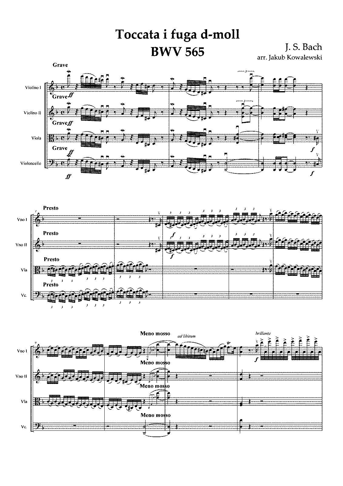 bach toccata and fugue in d minor pdf